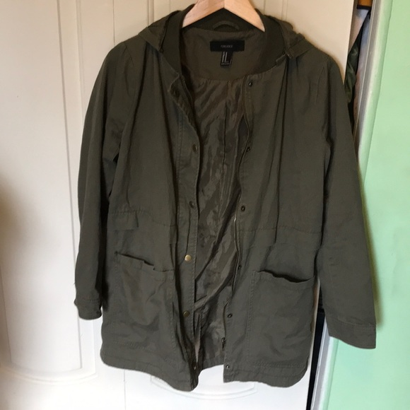 Forever 21 Jackets & Blazers - Forever 21 Green Hooded Jacket